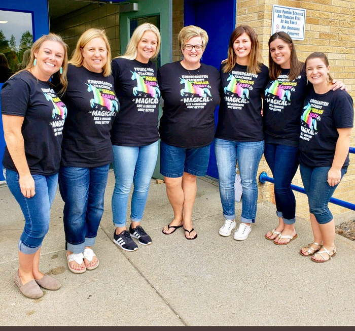 Sparkly and magical Kindergarten team!  #lfleads
