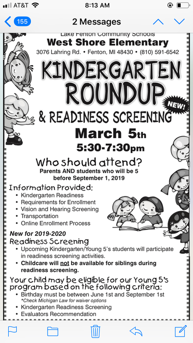 See you soon for Kindergarten Round Up!